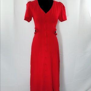 ASOS red side cut dress